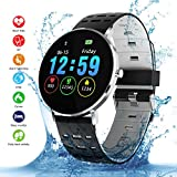 Qimaoo Montre Connectée Homme Femmes L6 Smartwatch Montre Sport Fitness Tracker IP68 Smart Watch avec Podomètre, Distance, Calorie, Moniteur de Sommeil pour Android iOS iPhone Samsung Huawei