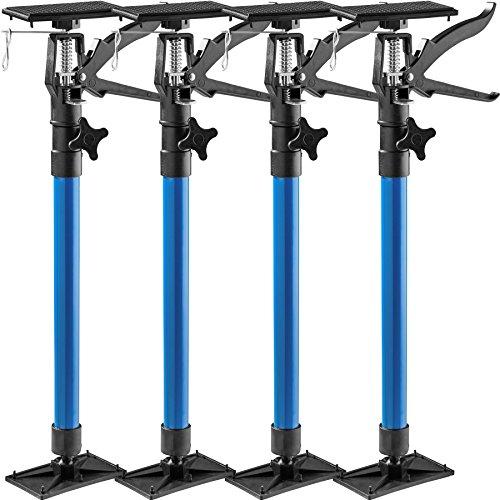 TecTake Türspanner Teleskopstange | stufenlos verstellbar | leichte Handhabung - Diverse Modelle (4er Set blau | Nr. 402613)