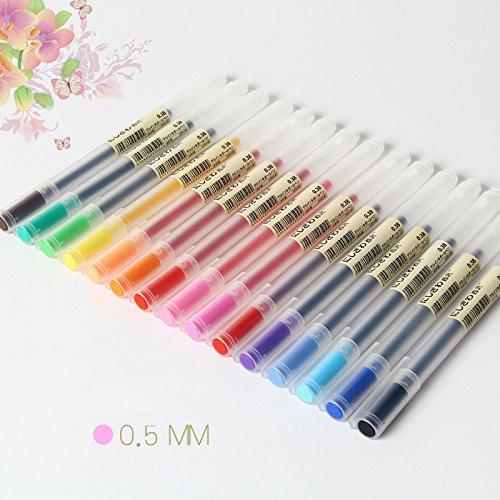 Njpower 12pcs/Lot gel Pen 0.5mm Colore inchiostro penna Maker penna scuola ufficio fornitura Muji Style 12colori