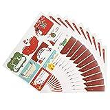 Bouder 10feuilles de Noël Autocollant d'étanchéité Autocollant Cake étiquette Autocollant fabriqué à la main cadeau Autocollant Décoration de cuisson de l'emballage à imprimer...