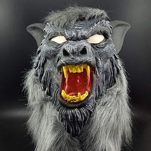 Adult Big Bad Wolf Kostüm - Dodom Werewolf Halloween Maske Big Bad