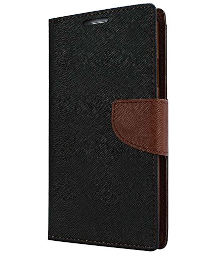 SAMSUNG GALAXY 7106 MERCURY FLIPCOVER BLACK AND BROWN by SS CREATION