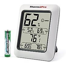 ThermoPro Termómetro Higrometro digital / Termohigrómetro digital Medidor Temperatura y Humedad