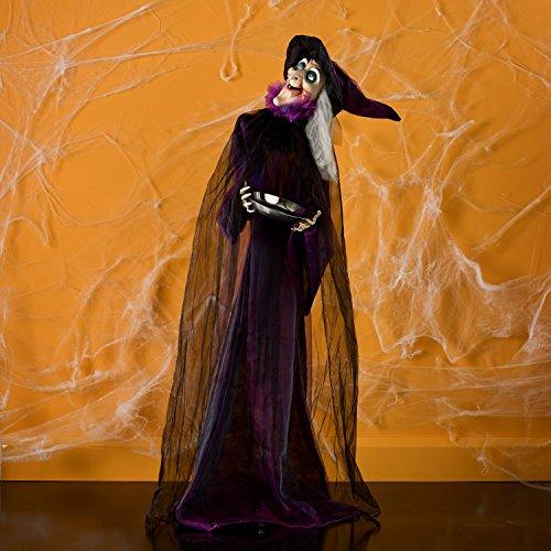 Animierte Halloween Hexe Geräuschaktivierung 1,55m hoch, (Animiert Hexe)