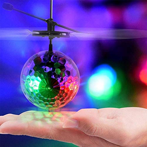 AORED Kinder fliegen Spielzeug mit 2 Geschwindigkeitsmodellen und LED-Anzeige, sphärische Form, Kinder fliegen Ball Drohnen for Kinder und Erwachsene, wiederaufladbare handgesteuerte RC-Drohne Quadcop