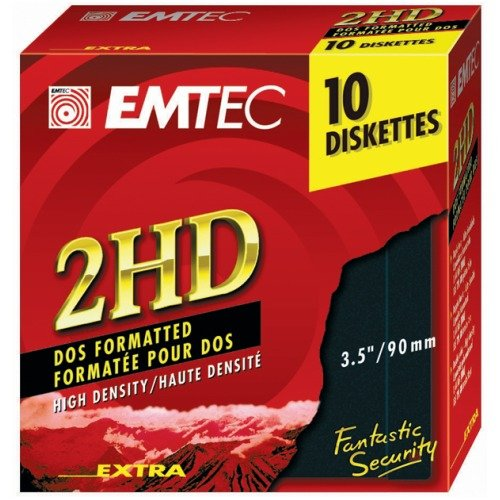 10 Disketten EMTEC 2HD, 1,44 MB, 3,5""