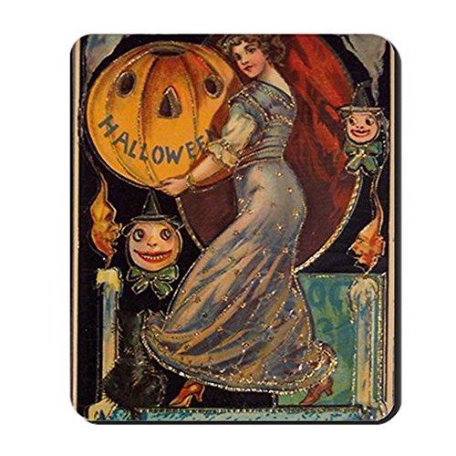intage-Halloween-Karte, rutschfestes Gummi-Mauspad, Gaming-Mauspad ()