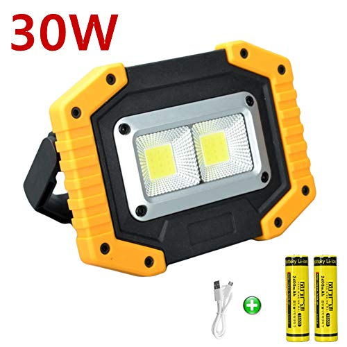 LED-Akkustrahler  <strong>Akkuladezeit</strong>   5 h