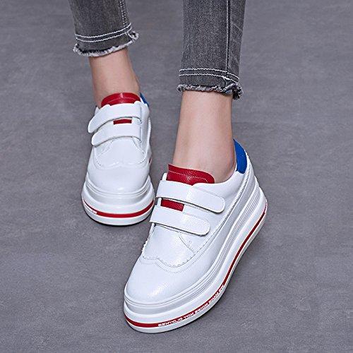 Comfort Schuhe Flatform Lackleder 1 wei脽e Schuhe Frauen LvYuan flache Karriere amp; Ferse B眉ro Mode Casual Sneakers Outdoor Walking qzg6nWnSxw