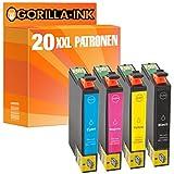 Gorilla-Ink® 20 Druckerpatronen XXL kompatibel für Epson GI1281-GI1284