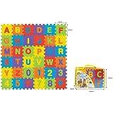 Sunta 3-inch-10 Pieces Number (0-9)+ 26 Pieces Alphabet, Multi Color