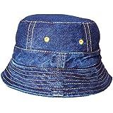 eac8b386387 TyranT Unisex Blue Denim Hat Round Cap