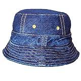 #8: TyranT Unisex Blue Denim Hat Round Cap