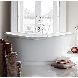 Casa Padrino Badewanne freistehend 1800mm BAdm180 - Freistehende Retro Antik Badewanne
