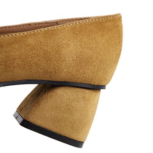 1to9mmsg00154 - Sandalias De Cuña De Mujer Amarilla