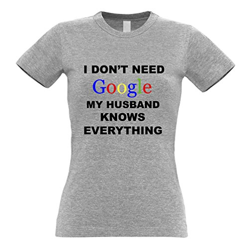 HJYS-Y I Don't Need Google My Husband Knows Everything Womens T-Shirt Sapphire