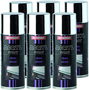 Troton Chromespray 400ml Spray Chrome Silber SprÜhlack Chromefarbe Chromspray Chromlack Autolack Effektspray 6 Auto