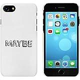 Blanco 'Maybe' Funda / Carcasa para iPhone 7 (MC00073558)