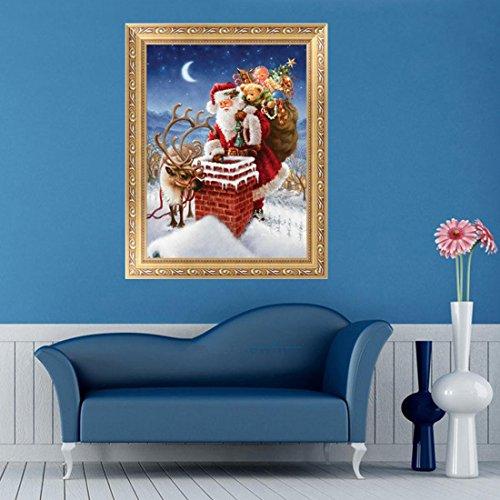 UU19EE Full Diamond Embroidery Santa Claus 5D Diamond Painting Cross Stitch Mosaic Needlework Crafts