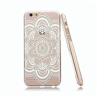 jinhoo (TM) Kunststoff Mandala Dreamcatcher Henna weiß schwarz Floral Paisley Tribal Muster Blumen Case & Cover für Apple iPhone 611,9cm iphone6plus 14cm, plastik, Mandala White, for Apple iPhone6 5.5 Inches