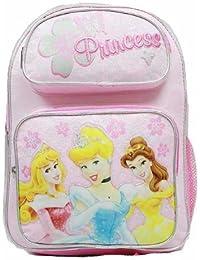 Medium Backpack - Disney - Princess - Pink - 3 Princess With Flowers