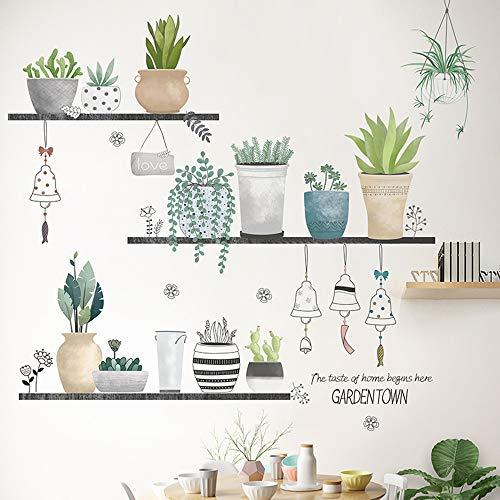 EXQULEG WandSticker, DIY Klebend Blumen set,Wandsticker Blumen, Wandbild: 90x108 cm, Deko für Wohn-Schlafzimmer Kinderzimmer Küche Flur (G)