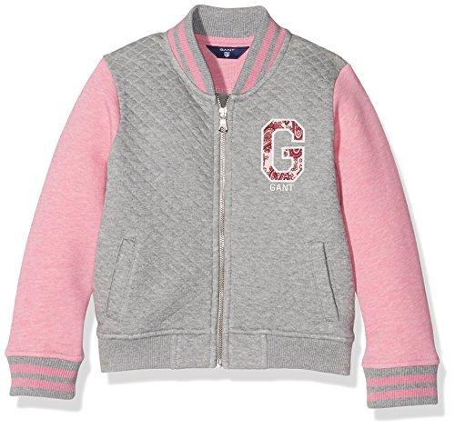 Gant O. Girls Collegiate Jacket, Giacca Bambina, Grigio (Grigio Melange), 15 Anni