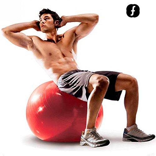 Foto de Apolyne Body Fitball Pelota de Pilates, Unisex Adulto, Rojo, 55 cm
