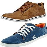 #10: T-Rock Men's Blue Denim Sneaker Shoes