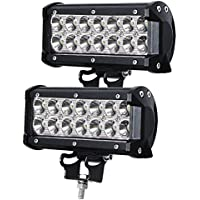 Luz De Trabajo Led,JieHe 2PCS 36W Faros Led 4x4 3600LM Faros Led Coche 6500K Led Trabajo 12V 36V Faro de trabajo LED off-road Ctodoterreno Tractor Barco