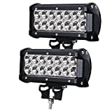 LED Arbeitsscheinwerfer, JieHe Led Scheinwerfer 2pcs 36W LED Barre Faro 3600LM Led Zusatzscheinwerfer 12v 12v-36v Spotlight Reflektor Car LED Work Light Auto Arbeitsleuchte Off-road ATV SUV