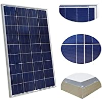 100Watt pannello solare policristallino fotovoltaico ZODORE PV Module 90mm cavo con MC412V batteria di ricarica per camper barca caravan, camper o yacht, per off-grid/backup di sistemi di energia solare 100Watt