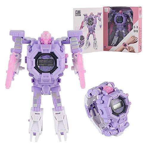 LayOPO Transformator-Spielzeug-Roboter-Uhr, verbesserte Verformung, elektronische Armbanduhr 2 in 1 für Kinder Geburtstag & Weihnachten & Halloween & Neujahrsgeschenk (Halloween Transformatoren)
