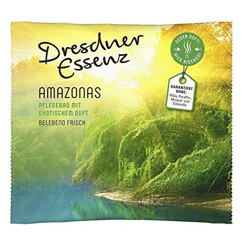 5er Pack Dresdner Essenz Pflegebad Badezusatz Badeessenz Amazonas Inhalt 5 x 60 g ph-hautneutral Badesalz Wellness belebend frisch & exotisch -