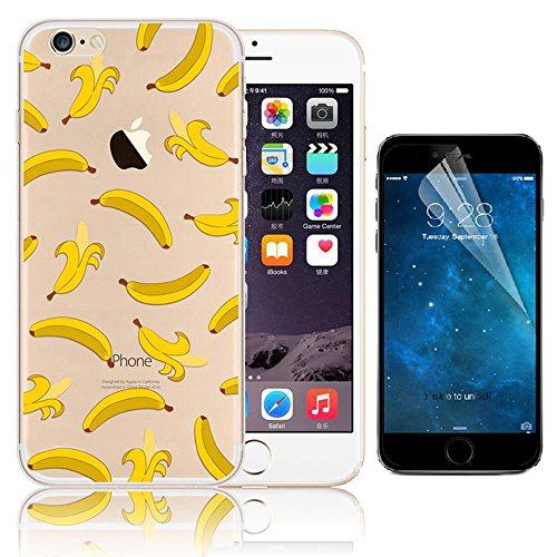 iPhone 7 Case (4.7), Bonice iPhone 7 Custodia,TPU Trasparente Ultra Slim Thin Morbido Crystal Clear Cover + 1x Protezione Schermo Screen – Rosa Model 19