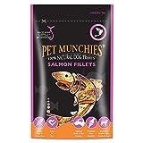 Pet Munchies Hunde-Kauleckerli aus natürlichem Lachsfilet (90g) (Mehrfarbig)