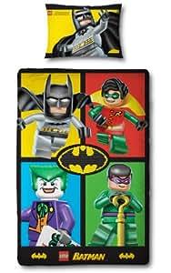 Character World 135 x 200 cm Lego Batman Cards Single Panel Duvet Set, Multi-Colour