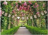 Just Married Wedding Bunting Cardboard Wedding Decoration, Vintage
