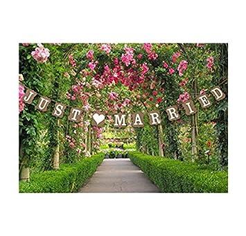 Stonges Just Married Wedding Bunting Cardboard Wedding Decoration ...