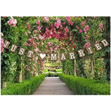 Just Married Wedding Bunting Cardboard Wedding Decoration, Vintage by Wedding Touches