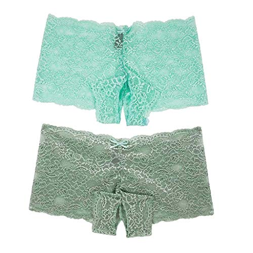Timitai 2er Pack Sexy Frauen Dessous Plus Size Unterwäsche Open Crotch Bowknot Unterwäsche