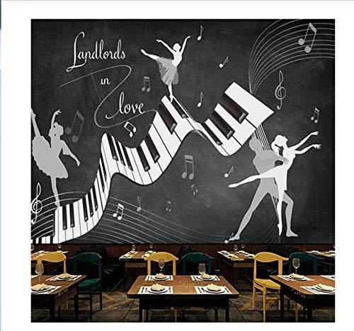 Kommerzielle Einfache Kostüm - Wandbild Fototapete Retro Vintage Ballett Kostüm 3D Wand Wohnzimmer Sofa Tv Hintergrund Wand Wasserdichte Fresko 3D Tapete-350X250Cm