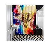 Adisaer Duschvorhänge Für Badewannen Blauer Elefant 165X180 Millimeter Strukturierter Badezimmer Duschvorhang Schimmel Beständig Anti-Schimmel Antibakteriell
