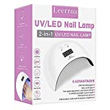LED UV Gel Nail Lamp Dryer Curing Lamp Light Nail Gel Polish, Suitable for Finger Nails & Toe Nails Finger Nail - White