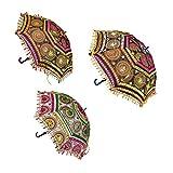 Home Decorative Handicrafts Items handicrafts decorative arts & crafts Jaipuri Elephant Print Handmade Embroidery Work Wedding Umbrella