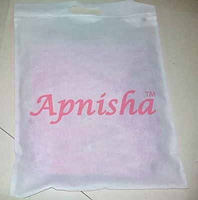 Apnisha Women's Georgette Semi-Stitched Anarkali Suit (APLE_BT_White_White) - White Party Wear Dress