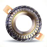 GZEDG Kupfer Kupfer Lampe voll europäische Leben Hintergrund COB Deckenleuchte LED-Strahler eingebettete Kupfer 100 * 50 (mm) (Color : B-Weißes Licht)