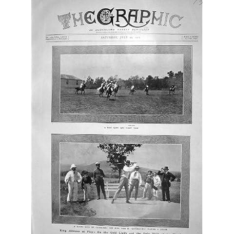 Caballos 1907 De Granja Del La Del Polo De Los Campos De Golf De Rey Alfonso