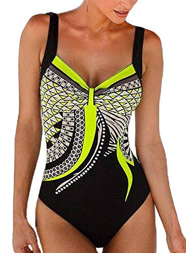 Bettydom Donna Piscina Accessori Pantaloni da Nuoto Costumi da Bagno Colore Nero Puro