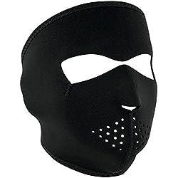 ZANheadgear Masque Facial en néoprène pour moto, quad, ski et snowboard WNFM114 BLACK
